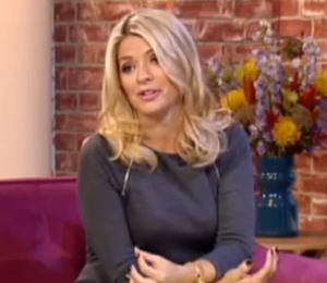 Holly Willoughby Michael Kors grey dress - This Morning Oct 14
