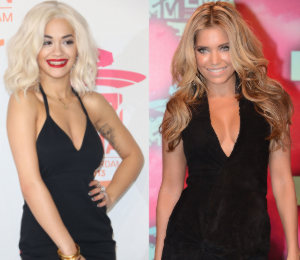 Rita Ora, Syvlie Van Der Vaart & more in black - MTV EMAs 2013