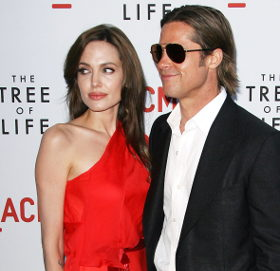 Image showing Get the Look: Angelina Jolie scarlet red dress by Jenny Packham @ 'The Tree of Life' Los Angeles Premiere