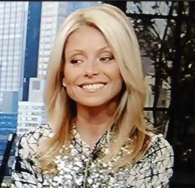 Kelly Ripa in Gryphon dress @ 'Live with Regis & Kelly ...