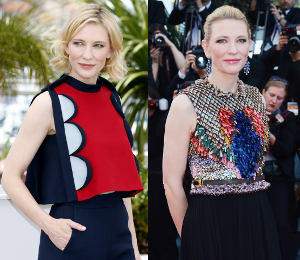 Cate Blanchett at Cannes in Delpozo & Givenchy - How to Train Your Dragon 2