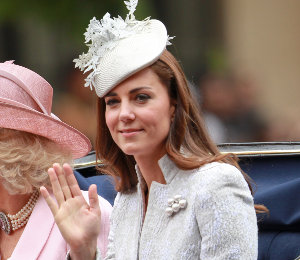Kate Middleton in Alexander McQueen suit - Trooping the Colour 2014
