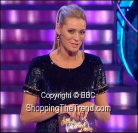 Image showing Buy Tess Daly Matthew Williamson black ombre sequin dress online @ 'Strictly Come Dancing Results' Nov 27th - on sale!