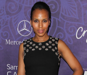 Kerry Washington in Michael Kors & 'Scandal' cast at Variety Emmys Party