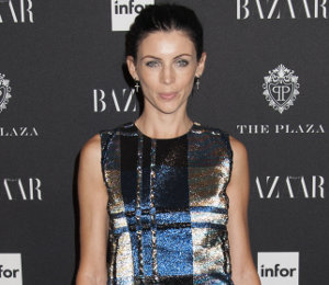 Liberty Ross in Christian Dior metallic plaid at 'Icons by Carine Rotifeld'