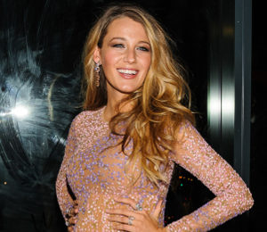 Blake Lively glowing in Michael Kors nude dress at Golden Heart Awards
