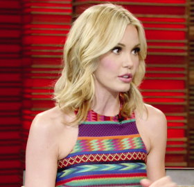 Image showing Buy Leslie Bibb ASOS Skater dress online @ 'LIVE! with Kelly' March 7th - Aztec print trend