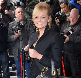 Image showing Celebrity Handbag Update: Buy Emma Bunton Chloe Paraty & J Brand green denim @ The TRIC Awards 2012