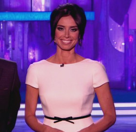 Christine Bleakley In White Dress By Emilia Wickstead Dancing On Ice March 18th Episode