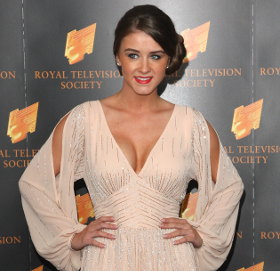 Image showing Shop Brooke Vincent Forever Unique dress @ RTS Programme Awards 2012 - elegant in a blush maxi!
