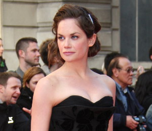 Image showing Ruth Wilson in McQ at Olivier Awards 2012 - dramatic black tea length dress!