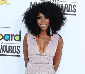 Image showing Shop Brandy Herve Leger fringe dress - 2012 Billboard Music Awards