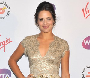 Image showing Buy Ana Ivanovic Matthew Williamson gold feather dress @ Roof Gardens Pre-Wimbledon Party