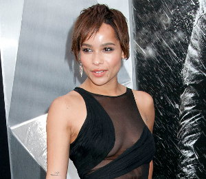 Image showing Zoe Kravitz in Emilio Pucci black dress @ 'The Dark Knight Rises' NY Premiere