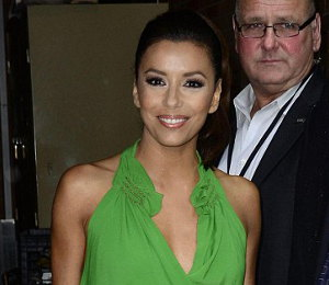 Image showing Buy Eva Longoria green dress by Vanessa Bruno (on sale!) - NY on July 20th