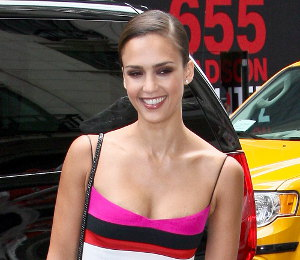 Image showing Jessica Alba wears Narciso Rodriguez dress at Barneys New York - gorgeous!
