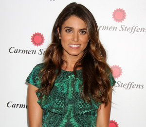 Image showing Shop Nikki Reed McQ green cable print dress - Carmen Steffens Store Opening