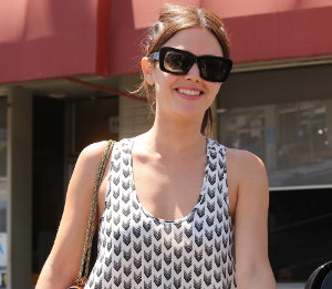 Image showing Street Chic: Buy Rachel Bilson Rag & Bone trapeze dress - mixed print trend
