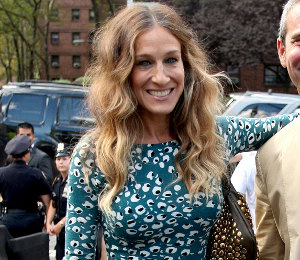 Image showing Shop Sarah Jessica Parker DVF tiger eye print dress @ NY Fashion Week