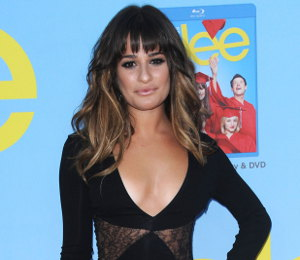 Image showing Lea Michele in Versace black lace @ 'Glee' Premiere Screening