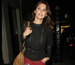 Image showing WAG Style: Shop Danielle Lineker Isabel Marant red jeans & more - May Fair Hotel