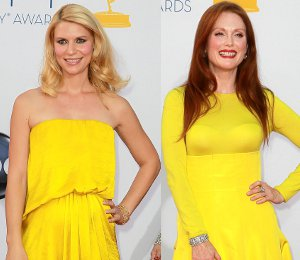 Image showing Claire Danes in Lanvin, Julianne Moore Christian Dior & more yellow - 2012 Emmy Awards