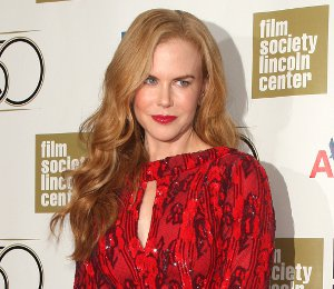 Image showing Nicole Kidman in L'Wren Scott red dress - Film Society of Lincoln Center Gala Tribute