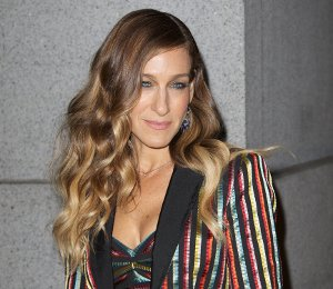 Image showing Sarah Jessica Parker in L'Wren Scott stripes - Fashion Group International Night Of Stars