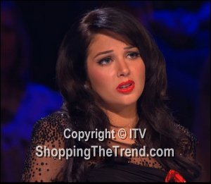 Image showing Shop Tulisa Forever Unique black mesh dress - X Factor Results Nov 11
