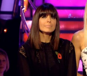 Image showing Claudia Winkleman in Isabel Marant black dress on Strictly Nov 11