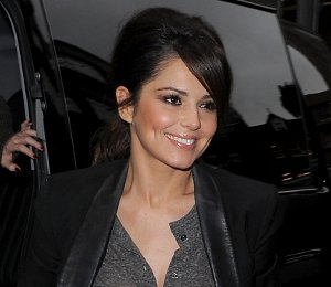 Image showing Shop Cheryl Cole camo jeans, black blazer & ankle boots - BBC Radio 1 on Nov 12