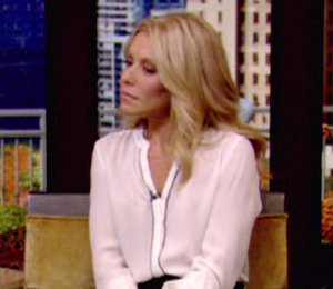 Image showing Shop Kelly Ripa ALC blouse & flared skirt - 'LIVE! with Kelly & Michael' Nov 12