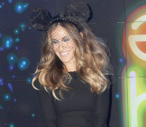 Image showing Sarah Jessica Parker in L'Wren Scott & Minnie Mouse ears - Barneys 'Electric Holiday'