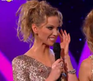 Image showing Shop Sarah Harding Project D sequin dress - BBC Children in Need with Girls Aloud