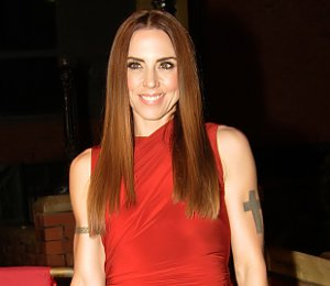 Image showing Shop Mel C Alexander Wang red dress - Liverpool Music Awards