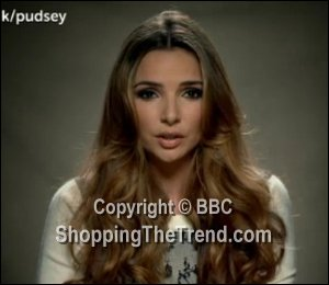 Image showing Shop Nadine Coyle McQ cream jumper Children in Need - knit & lace
