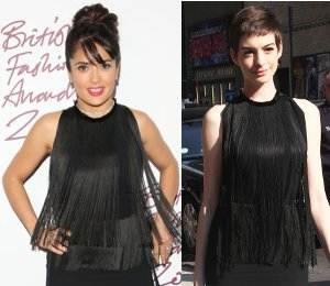 Image showing Salma Hayek Stella McCartney fringe at British Fashion Awards - seen on Anne Hathaway