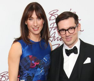 Image showing Shop Samantha Cameron Erdem Tessa dress - British Fashion Awards