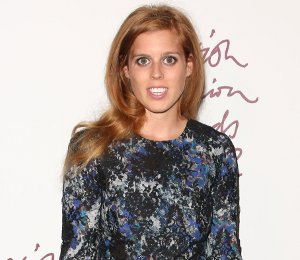 Image showing Shop Princess Beatrice Erdem Lily floral dress - British Fashion Awards