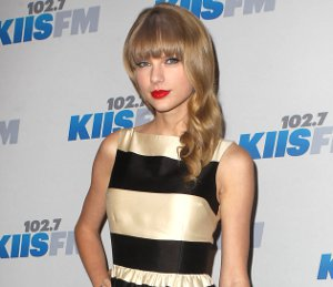 Shop Taylor Swift kate spade striped dress - KIIS FM Jingle Ball 2012