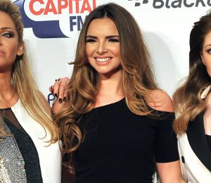 Image showing Shop Nadine Coyle Helmut Lang black dress - Jingle Bell Ball 2012
