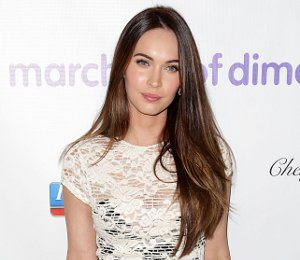 Image showing Shop Megan Fox L'Agence cream lace dress - March of Dimes luncheon