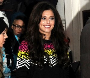 Image showing Shop Cheryl Cole Proenza Schouler black jumper - BBC Maida Vale Dec 14