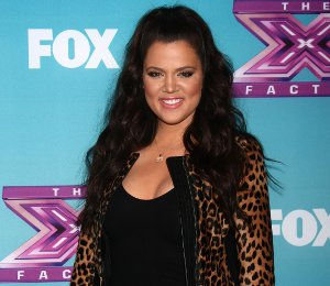 Shop Khloe Kardashian ALC leopard jacket - X Factor Finals press conference