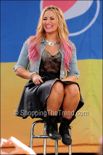 Demi Lovato biker boots Good Morning America July 6th