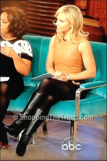 Elizabeth Hasselbeck In Thakoon Addition Quilted Leather