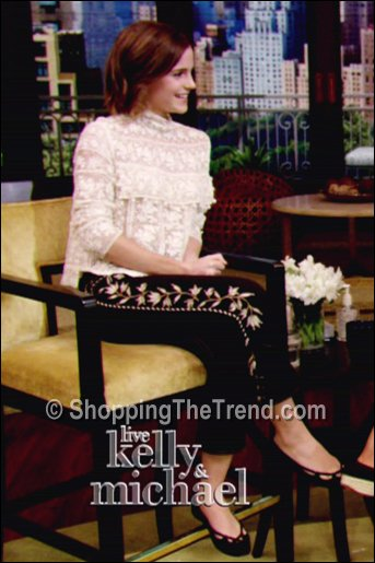 Emma Watson Live with Kelly & Michael Isabel Marant