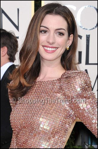 Anne Hathaway At Golden Globes 2010. anne hathaway hair golden