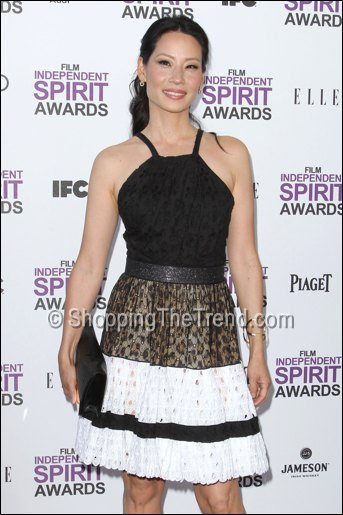 Buy Lucy Liu Roberto Cavalli Dress Amp Giuseppe Zanotti Heel