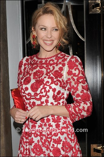 Kylie Minogue Ravishing In Red Dolce Amp Gabbana At